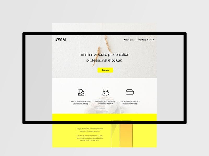 minimal website mockup wassim on dribbble