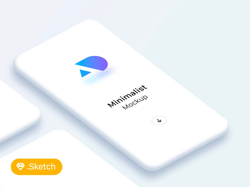 minimalist light phone mockups freebie download sketch resource
