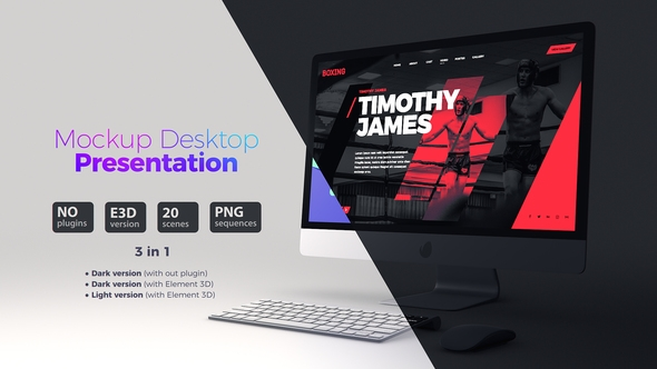 mockup desktop website presentation baburka video videohive