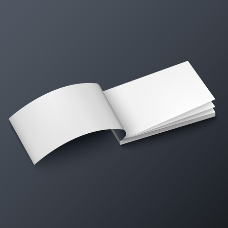 notepad booklet business card or brochure mockup template