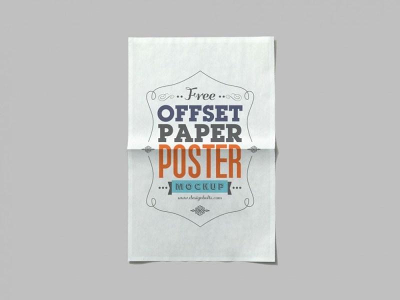 offset paper poster mockup mockupworld