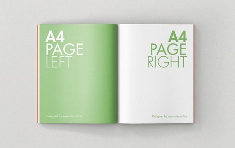 open a4 magazine mockup mockupworld