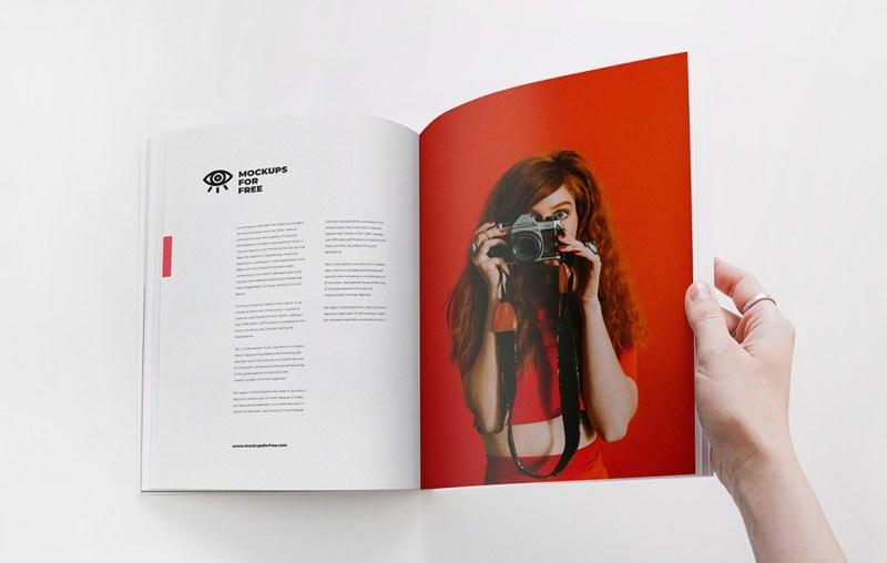 open magazine mockup mockups for free