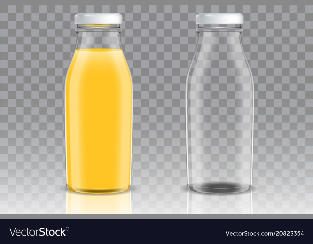 orange juice glass bottle mockup set royalty free vector