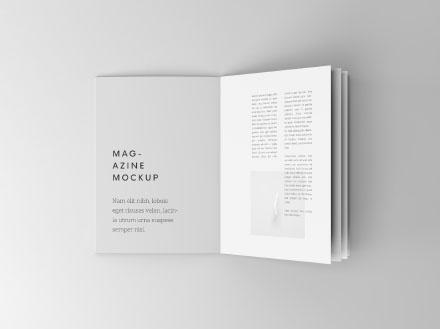 overhead booklet mockup psd
