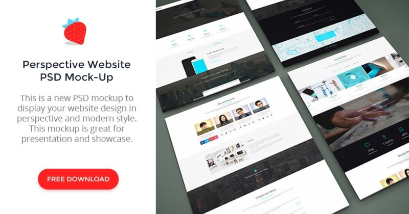 perspective website psd mock up graphberry