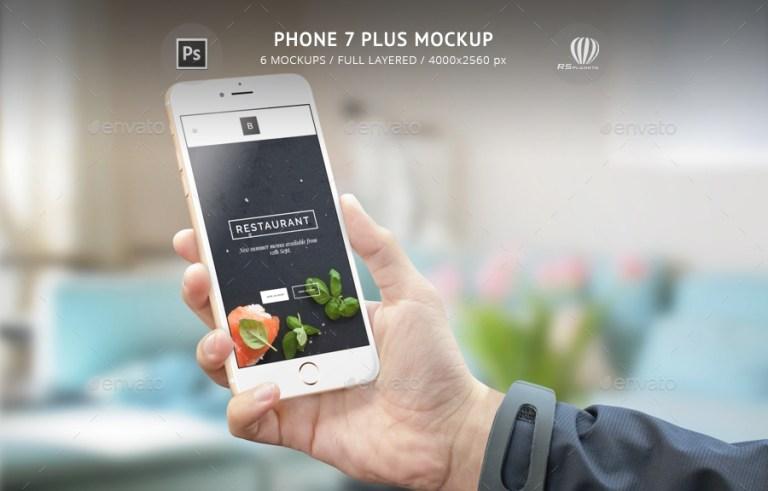 phone 7 plus mockup rsplaneta graphicriver