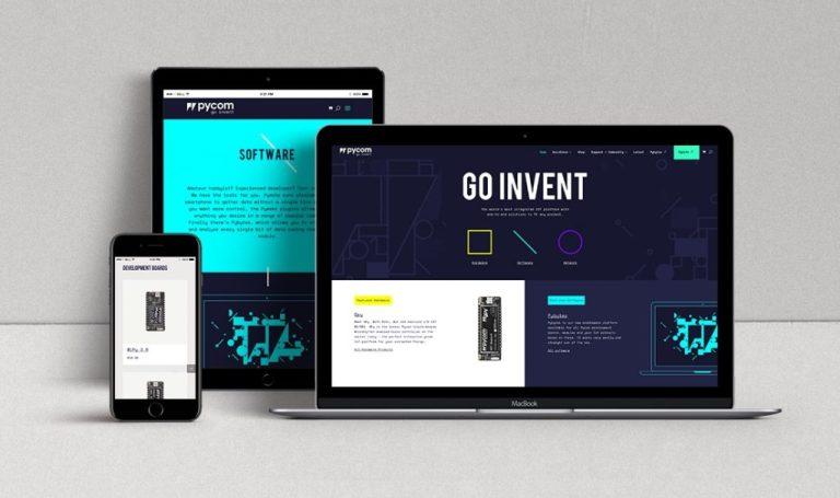 pycom website mockup 2018 juicy marketing