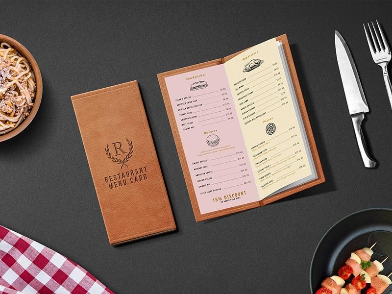restaurant menu card psd mockup graphicsfuel rafi on dribbble