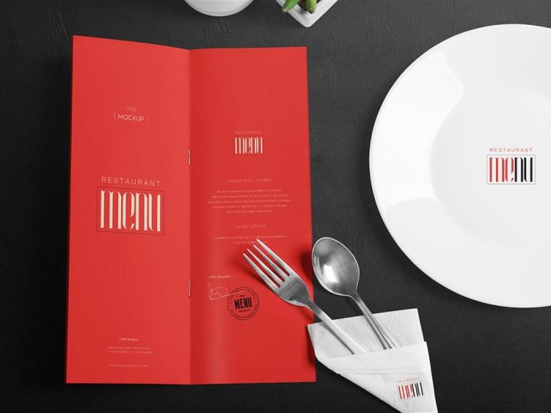 restaurant menu free mockup free mockup