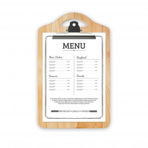 restaurant menu mock up psd file premium download
