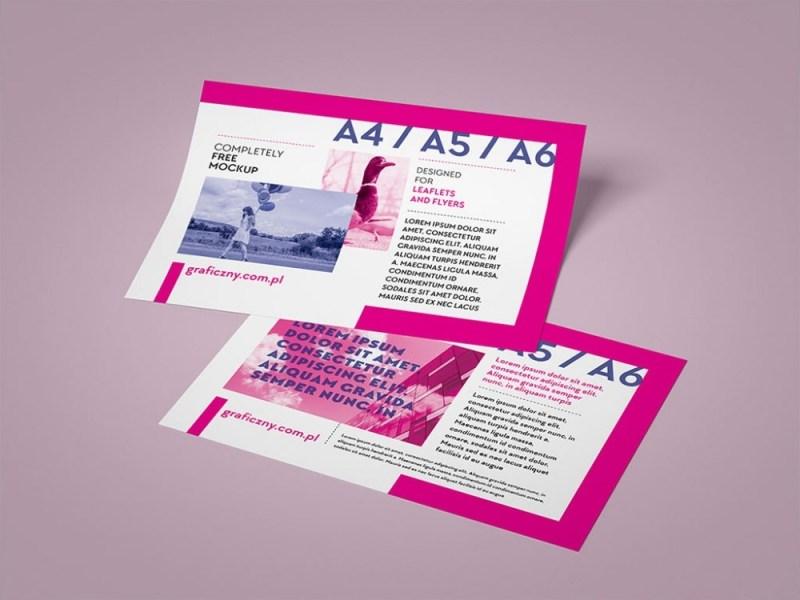 set of flyer mockups mockupworld