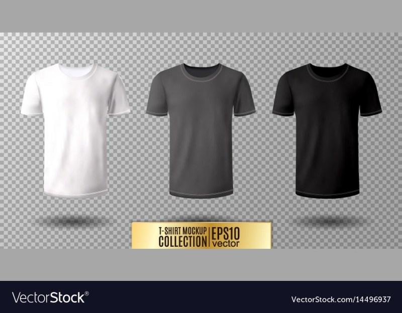 shirt mock up set t shirt template black gray vector image
