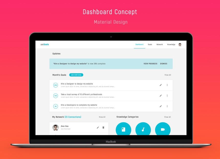 simple materialize design website mockup freelancer