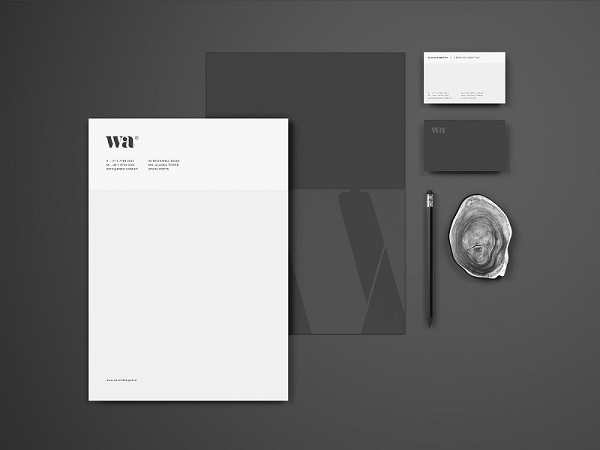 simple overhead stationery mockup