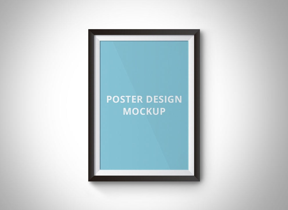 simple poster frame mockup mockupworld