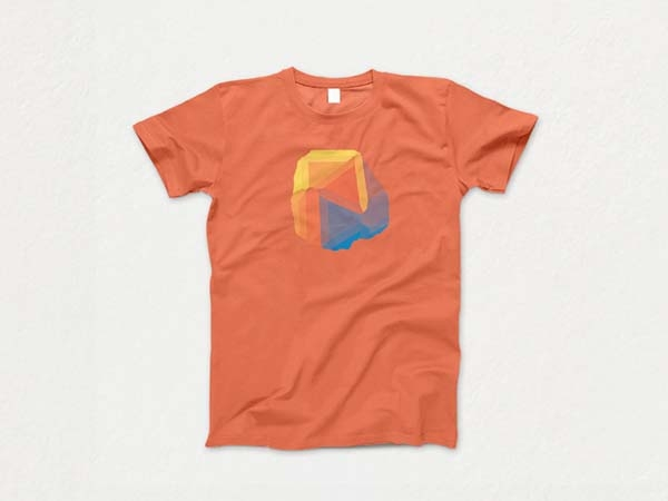 simple top free t shirt mockup psd