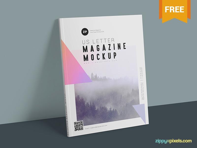 two free us letter size magazine mockups zippypixels on dribbble