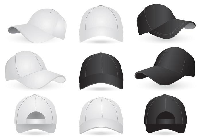 vector mockup templates of cap and hat download free vector art
