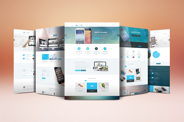 website display mockup on behance