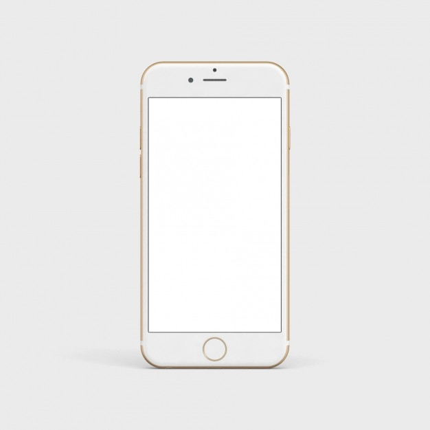 white mobile phone mock up psd file free download
