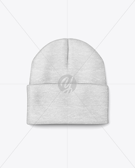 winter hat mockup in apparel mockups on yellow images object