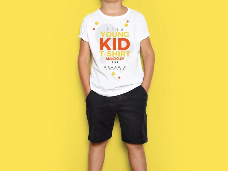 young kid t shirt free psd mockup free mockup