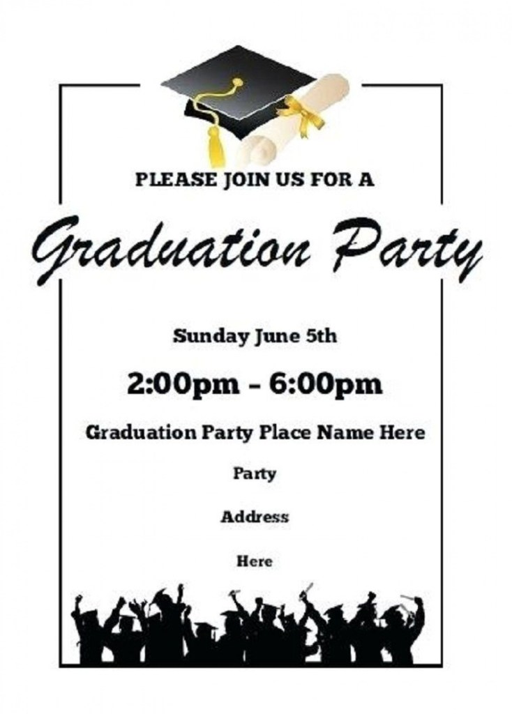 002 singular free printable graduation invitation template