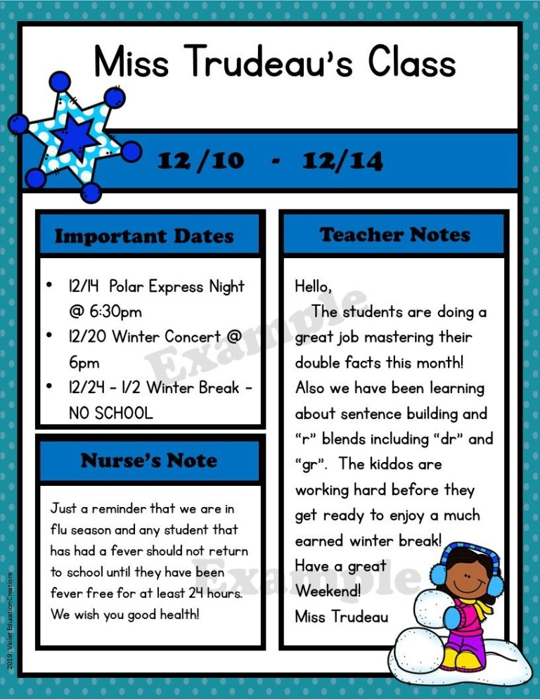 009 archaicawful free newsletter template for teacher idea
