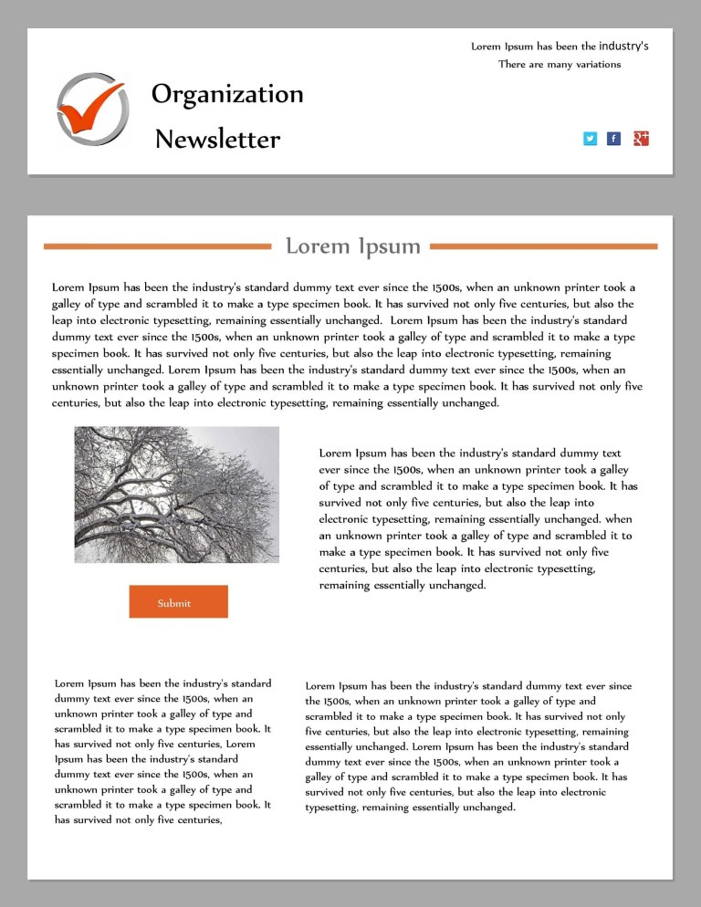 009 unique publisher newsletter template free image