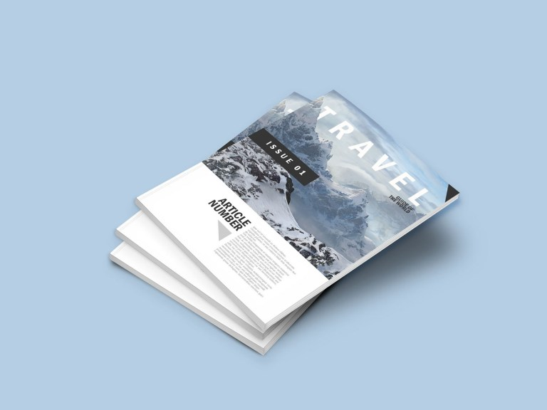 a4 magazine mockup bundle booklet