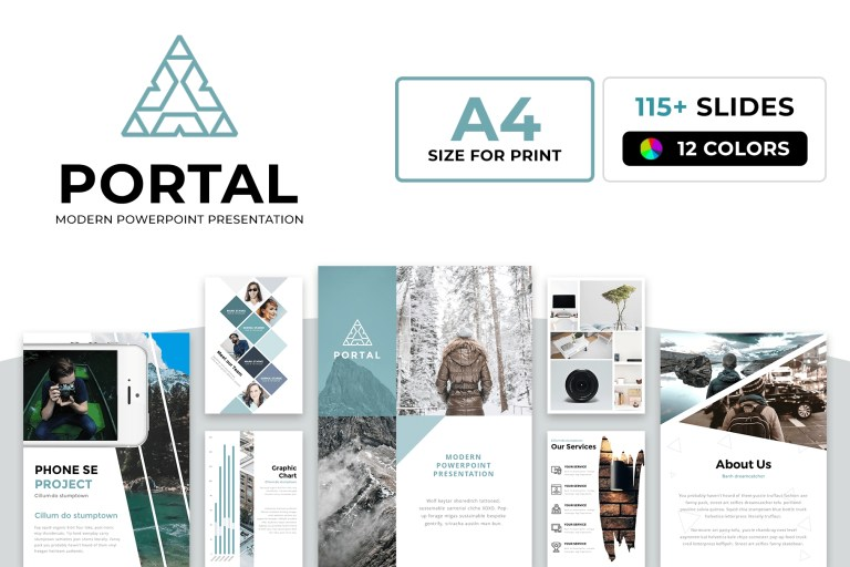 a4 portal modern powerpoint template