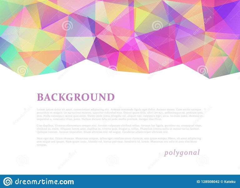 abstract triangular banner stock vector illustration of