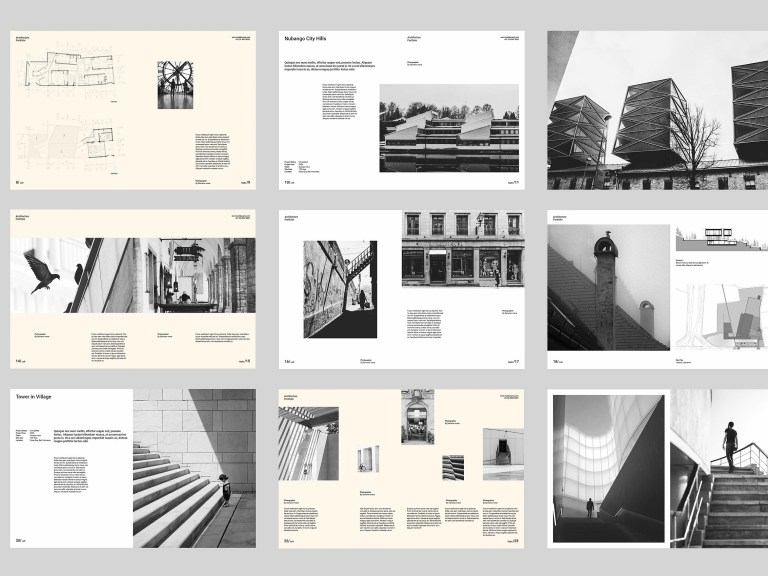 architect portfolio brochure design