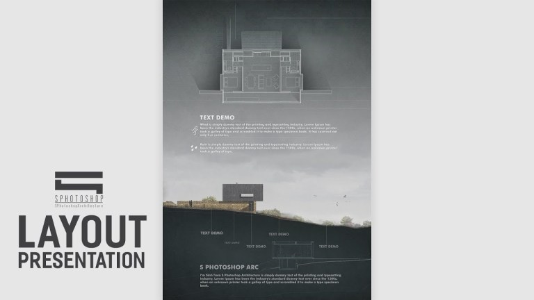 architecture layout presentation photoshop