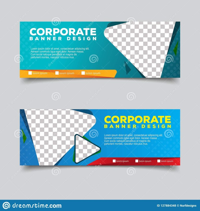 banner template with triangle abstract background