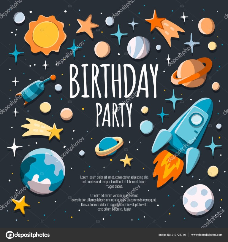 birthday party invitation flyer poster template background