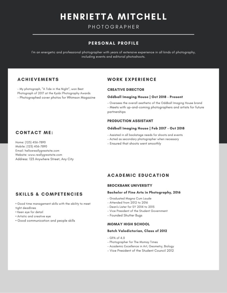 black and white minimalist resume templates canva