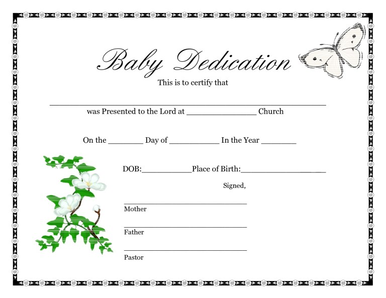 blank birth certificate template sample