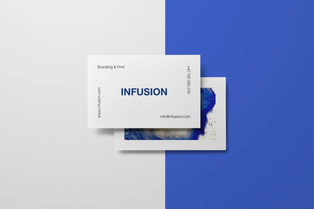 clean simple business cards digital infusion