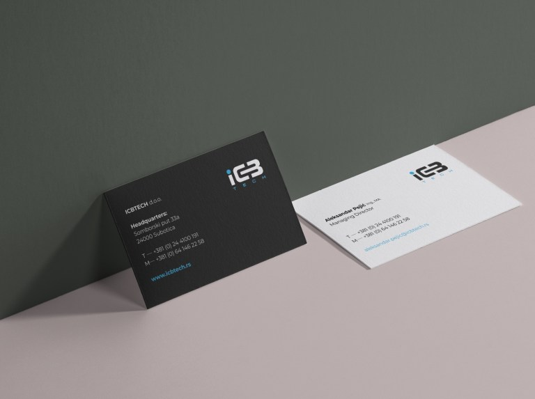 elegant simple business card design by aleksandar paji