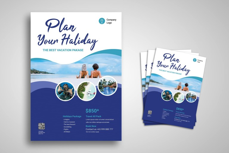 flyer template holiday package