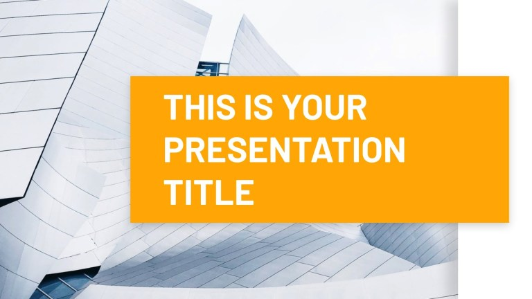 free minimal and modern powerpoint template or google slides