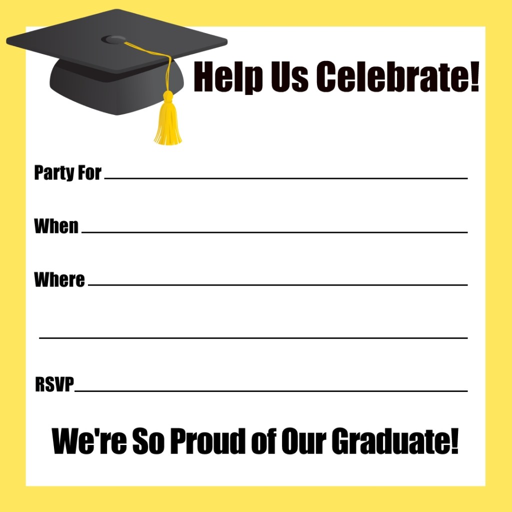 free printable graduation party invitations with images