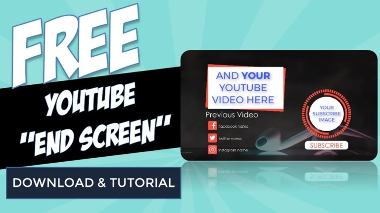 free youtube end screen template pptvideos