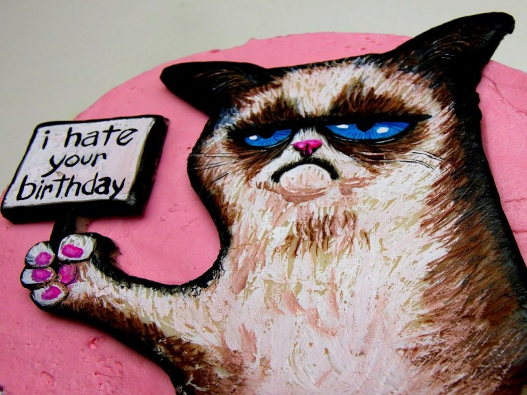 happy birthday meme amazing grumpy cat