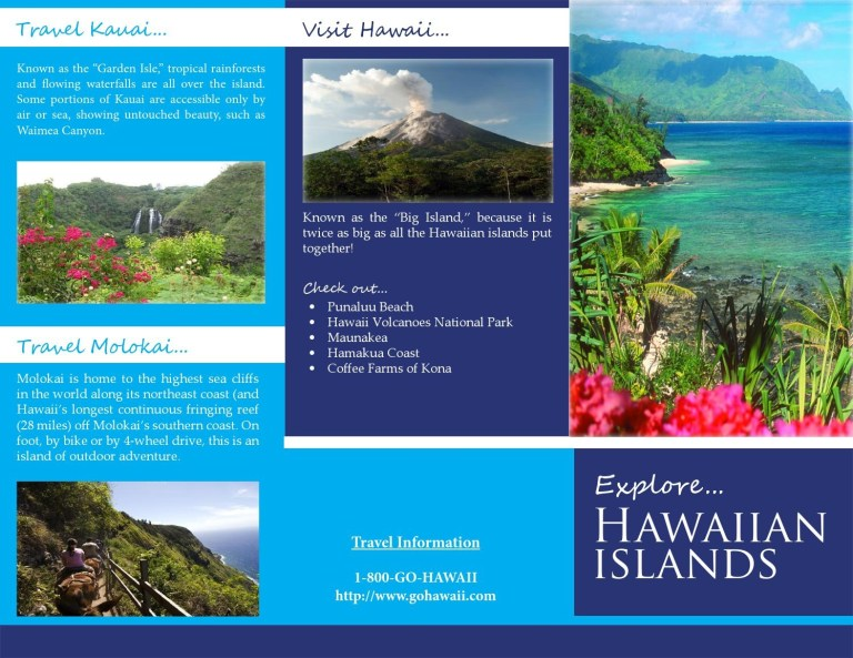 hawaiian islands layout design brochure