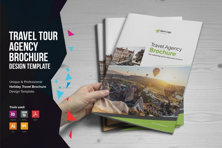 holiday brochure travel trifold