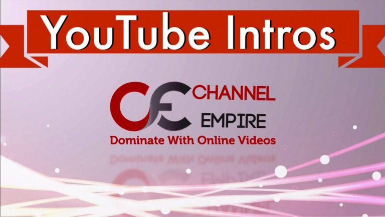 how to make a youtube intro video channel empire