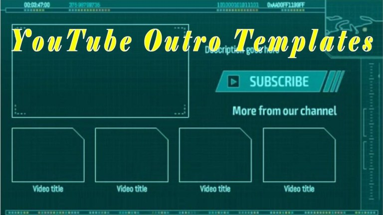 image result for youtube end screen template templates